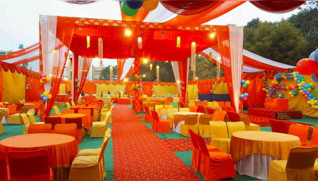 A One Tent and  Decorations